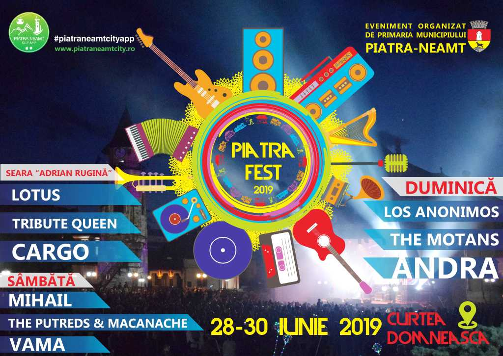 Zilele municipiului Piatra-Neamț - 28-30 iunie - Program